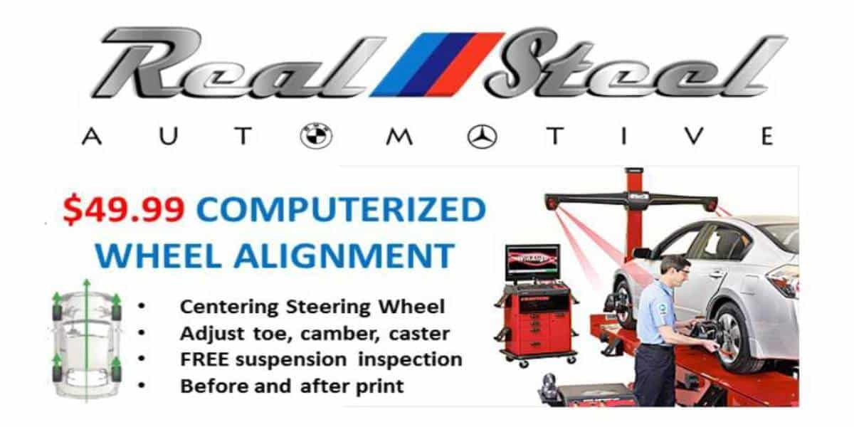 Wheel Alignment Reel Steel automotive Jacksonville car service and repairs